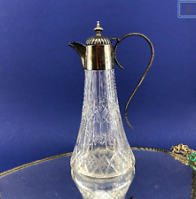 Vintage Jbc & S England Silverplate and Crystal 10� Wine or Liquor Decanter