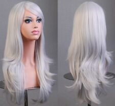 Womens Lady Long Hair Wig Curly Wavy Synthetic Anime Cosplay Party Full Wigs
