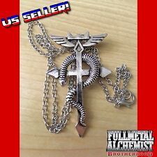 Fullmetal Alchemist Brotherhood Flamel Snake Cross Necklace Cosplay Edward Elric