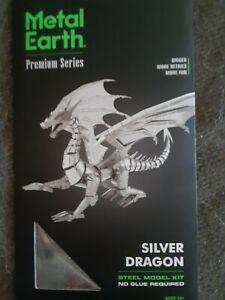Metal Earth Silver Dragon Premium series