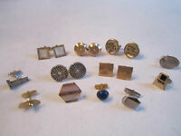 5 VINTAGE MEN'S CUFF LINKS - SOME SIGNED HICKOK & SWANK & SINGLE CUFFS -  OFCC