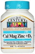 21st Century Health Care, Cal Mag Zinc + D3, x90tabs