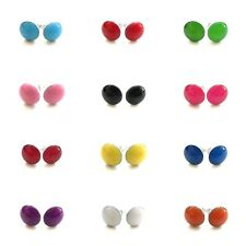 20g 0.8mm Summer Multi Color Enamel Steel Acrylic Fake Ear Plugs Earrings Stud