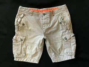 Mens * CORE HEAVY SUPERDRY * Knee Length COMBAT CARGO Shorts Size 2XL W 38