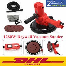 Electric Handheld Drywall Sander 1280w Variable Speed With Vacuum Amp 180mm Pad New