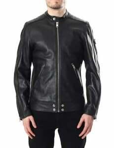Diesel  L-Quad Men's Leather Biker Jacket size S RRP£799