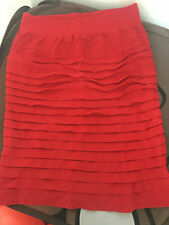 Red bodycon mini skirt