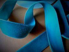 MERCERÍA CINTA azul duro terciopelo 1mx 2.5 cm☺RUBBON