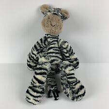 Jellycat Merryday Zebra - Plush Black & White Stripes Floppy Stuffed Animal Toy