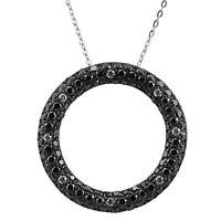 Silver Trends Halskette echt Silber 925 Sterling mit Kreis Anhänger Zirkonia