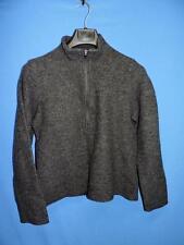 Ibex L Womens Dark Gray Merino Wool Shirt Half Zip Mock Neck Long Sleeve Large