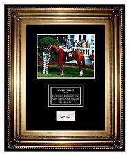 SECRETARIAT Horse racing HAIR LOCK Triple Crown Winner BIG RED Charity FRAMED