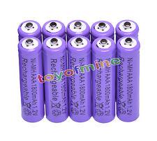 10x AAA 1800mAh 1.2V Ni-MH 3A color púrpura 3A recargable Batería