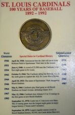 ST LOUIS CARDINALS 100 YEARS OF BASEBALL 1892-1992 ANNIVERSARY COIN
