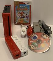 Nintendo Wii Console Mario Bundle Gamecube Compatible RVL-001 Tested & Complete