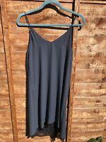 Zara Navy Strappy Slip Mini Dress With Lace Hem Perfect Condition Size 6 XS