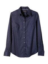Banana Republic Tailored Non-Iron Shirt Navy/white Polka Dot Cotton Size L, NWT