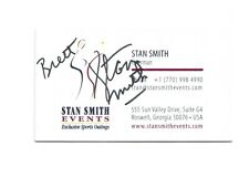 Stan Smith Autograph Signed Business Card Tennis Legend Adidas Shoe Former #1