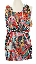 NEW NWT Apple Bottoms - Smooth Stretch Graphic Print Dress w/ Layered Front - M