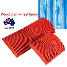 2pcs Silicone Wood Grain Brush Graining Pattern Wall Paint Painting DIY Tool AU!