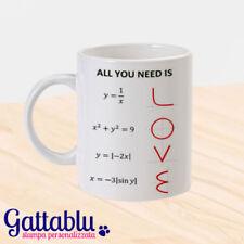 Tazza All you need is LOVE, formule matematiche equazioni divertenti, amore