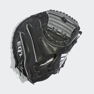 "Adidas 32.5"" EQT 3350 Pro Series Catcher's Mitt Black Gray RHT AZ9146 Glove"