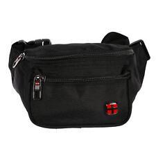 Bauchtasche Herren Damen Jungen Mädchen Tasche Hüfttasche Nylon Schwarz Rot NEU