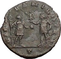 AURELIAN with globe 272AD Rare Authentic Ancient Roman Coin Soldier i57426