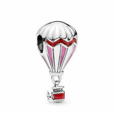 Authentic Pandora Charms 925 ALE Sterling Silver Balloon Pink Enamel Bead Charm