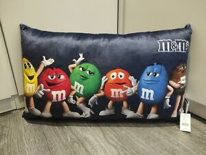 OFFICIAL M&M's World Candy Chocolate Sweet Soft Pillow Cushion Plush RARE New