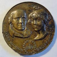 1988 James & Dolley Madison Bronze Medal For Madison Hotel Medallic Art