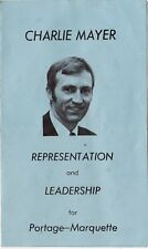 Conservative Party Election Campaign Material Joe Clark Charlie Mayer 1979 slc1