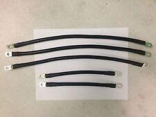 4 Awg HD Golf Cart Battery Cable 5 pc Black Yamaha G19 (96-02) 4G Set U.S.A MADE