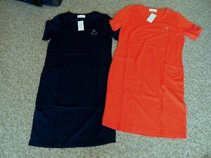 2 Stück Jersey-Kleider,Strandkleider v.Helena Vera,Gr.38,rot,dkl.blau,Neu, CB