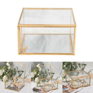 Glass Jewelry Box Square Jewelry Trinket Glass Box for Storage and Display Rings