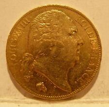 France 1820W Gold 20 Francs AU LOUIS 18 Better Date