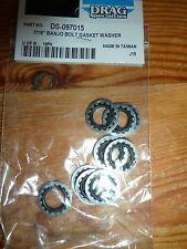 Master Cylinder 7/16'  banjo bolt washers trade pack of 10 for harley davidson