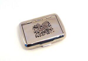 Dragon on Tobacco Tin Trinket Box Welsh Dragon Gift Dad Anniversary Xmas Gift