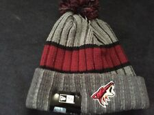 size 40 f4a87 026f9 Arizona Coyotes Era NHL Stripe Chiller Pom Knit Hat Cap Men s Beanie Phoenix