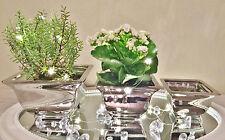 Juego De 3 ADECUADO Cerámica Florero mesa decorativo Profundo Rectangular