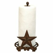 Cast Iron Star Paper Towel Holder Kitchen counter top -Country Western Rustic