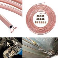 "Pro 50 Ft. Roll Coil of 3/16"" OD Copper Nickel Brake Line Tubing Kit Fittings"