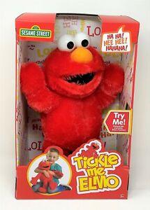 Sesame Street Tickle Me Elmo Red Super Soft Plush 43cm Giggle Sound Toy
