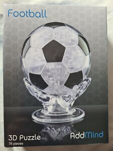 3D Football Crystal puzzle with 76 jigsaw pieces NEW boxed