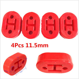 4Pcs Red 11.5mm Polyurethane Car Exhaust Muffler Hangers Mount Bracket Universal