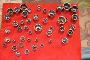 """CRAFTSMAN  USA 1/4""""  Dr - SAE AND METRIC SHALLOW SOCKET 6 AND 12 Point"""