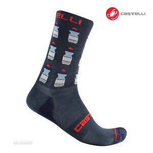 ELECTRIC MAGENTA One Pair Castelli SCAMBIO 13 Merino Wool Cycling Socks