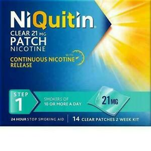 NiQuitin Clear 21mg Patch Nicotine PRE QUIT-STEP1 - 7-14 Patches-STEP 2 - STEP 3