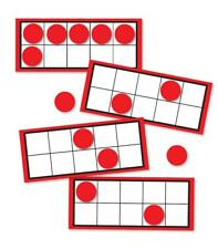 CD 120498 Ten Frames Math Skills Manipulatives Learning Center Set of 44
