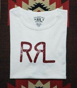 Double RL RRL Ralph Lauren Natural Cotton Jersey Graphic T-shirt Tee
